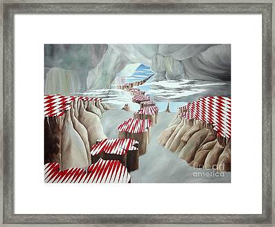 Islands In The Sky Framed Print by Richard Dotson