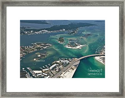 Islands Of Perdido - Labeled Framed Print
