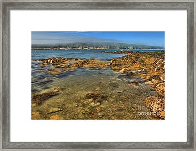 Isle Au Haut Beach Framed Print by Adam Jewell