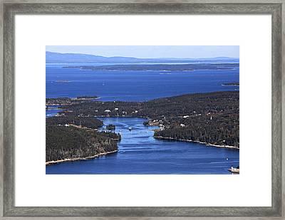 Isle Au Haut Harbor Framed Print by Dave Cleaveland