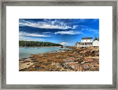 Isle Au Haut House Framed Print by Adam Jewell
