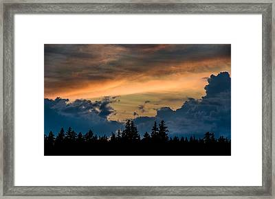 Isle Au Haut Sunset Framed Print