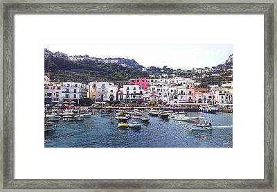 Framed Print featuring the photograph Isle Of Capri by Ze  Di