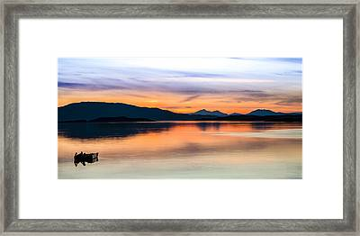 Sunset Isle Of Jura Scotland Framed Print