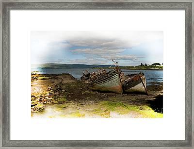 Isle Of Mull Boats Framed Print