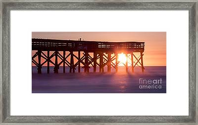 Isle Of Palms Pier Sunrise South Carolina Framed Print