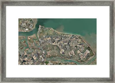 Isle Of Sheppey, Uk, Aerial View Framed Print