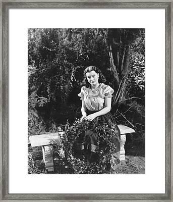 Isle Of The Dead, Ellen Drew, 1945 Framed Print