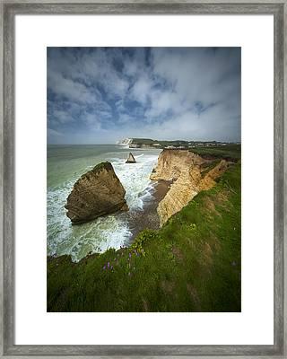 Isle Of Wight Seascape Framed Print by Jaroslaw Blaminsky