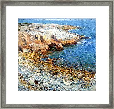 Isles Of Shoals Framed Print by Frederick Childe Hassam