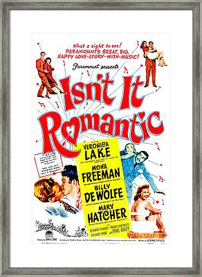 Isnt It Romantic, Us Poster, Veronica Framed Print by Everett