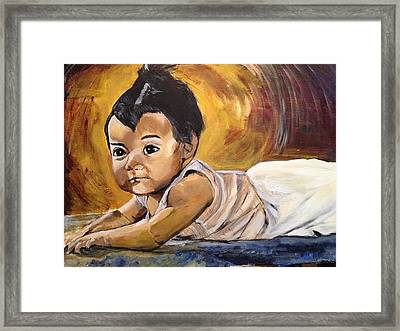 Isn't She Lovely - My Beautiful Sister Lilian Framed Print by Belinda Low