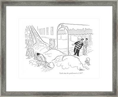 Isn't That The Gentleman In 12 B? Framed Print