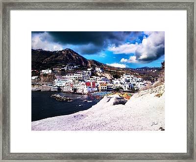 Isola Di Ischia Sant'angelo - The Island Of Ischia Sant'angelo Framed Print