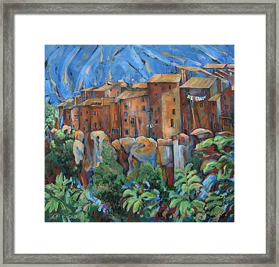 Isola Di Piante Large Italy Framed Print
