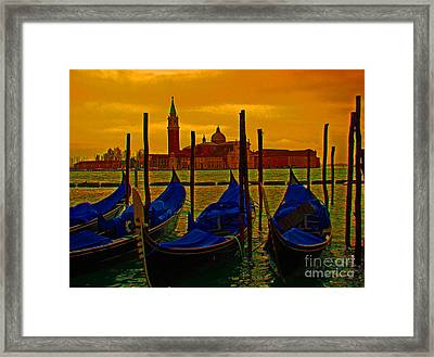 Isola Di San Giorgio Maggiore In Venice Framed Print by Al Bourassa