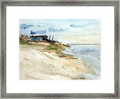 Isolated Beach House Framed Print