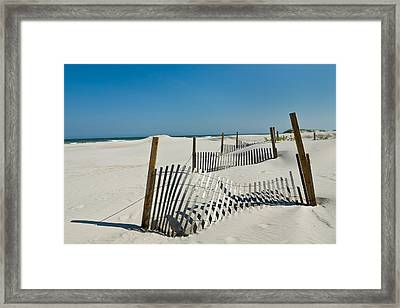 Isolated Dunes Framed Print