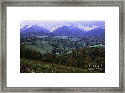 Isolated Farmhouse Mountain Valley Framed Print by Thomas R Fletcher