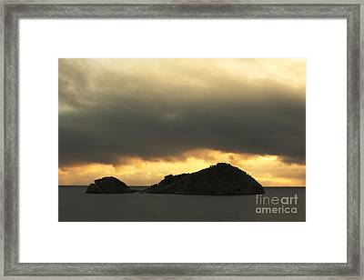 Isolated Islet Framed Print