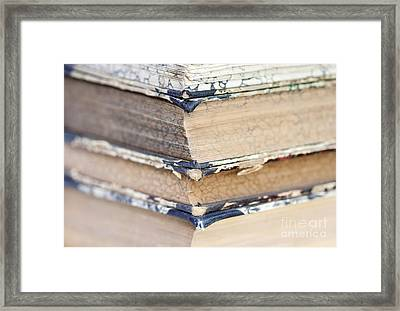 Isolated Old Books Framed Print by Michal Boubin