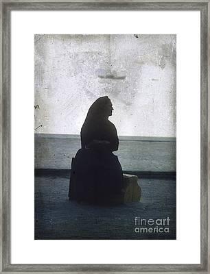 Isolated Woman Framed Print by Bernard Jaubert