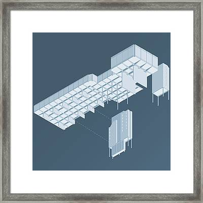 Isometric Council Chambers Framed Print by Peter Cassidy