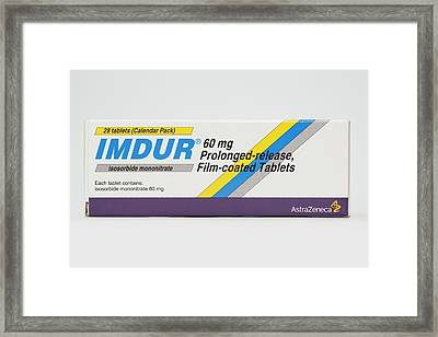 Isosorbide Angina Drug Framed Print by Dr P. Marazzi/science Photo Library