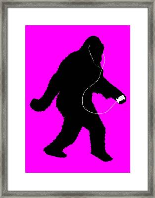 iSquatch - Hot Pink Framed Print by Gravityx9  Designs