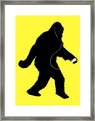 iSquatch - on Yellow Framed Print by Gravityx9  Designs