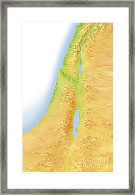 Israel And Palestine, Artwork Framed Print by Gary Hincks