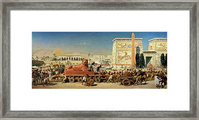 Israel In Egypt, 1867 Framed Print
