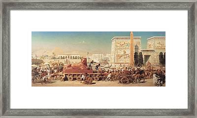 Israel In Egypt Framed Print by Edward John Poynter