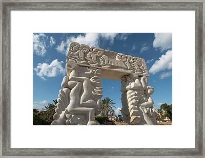 Israel, Jaffe, Gate Of Faith Stone Framed Print by Ellen Clark