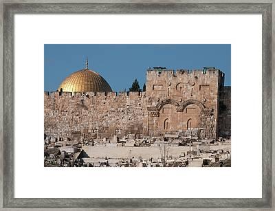 Israel, Jerusalem Dome Of The Rock Framed Print