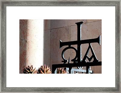 Israel, Jerusalem, Wrought Iron Framed Print