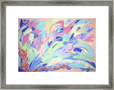 Framed Print featuring the painting Israel Synchromy by Esther Newman-Cohen