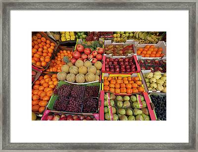 Israel, Tel Aviv A Variety Of Fruit Framed Print by Ellen Clark