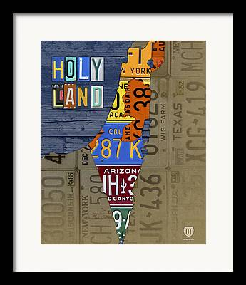 Holy Land Mixed Media Framed Prints