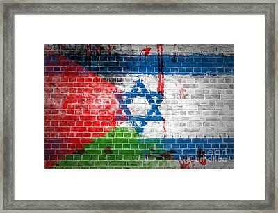 Israeli Occupation Framed Print by Antony McAulay
