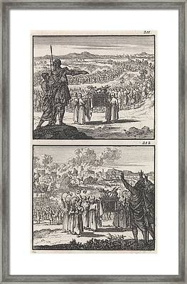 Israelites Over Jordan Fall Of Jericho Biblical Framed Print by Quint Lox