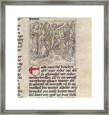 Israelites' Song Of Thanksgiving Framed Print by British Library