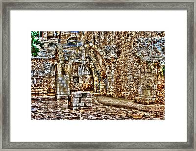 Framed Print featuring the photograph Israels Ruins by Doc Braham