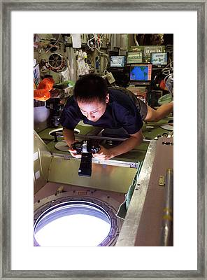 Iss Astronaut Photography Framed Print