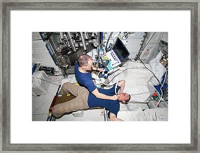 Iss Astronaut Ultrasound Scan Framed Print
