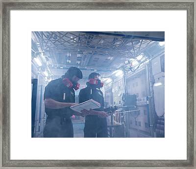 Iss Emergency Training Framed Print