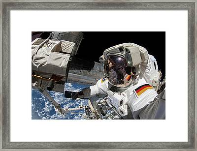 Iss Spacewalk Framed Print