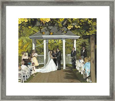 Issaquah Wedding  Framed Print