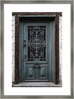 Issigeac Door Framed Print by Georgia Fowler