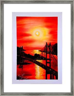Istanbul Bridge Framed Print by Shirwan Ahmed